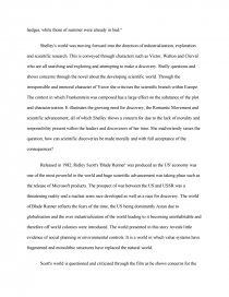 Blade runner and frankenstein essay argumentative writing example