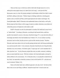 Descartes and hume essay homework link suggest