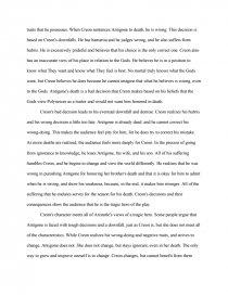 antigone who is the tragic hero essay