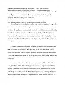 fahrenheit 451 book report