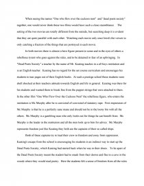 one flew over the cuckoos nest essay thesis