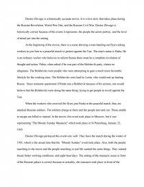 dr zhivago essays zoom