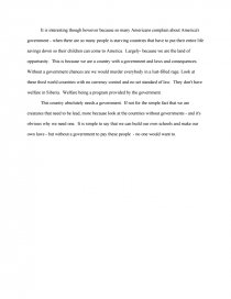 why do we need government essay