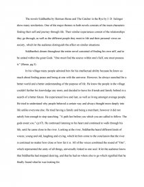 catcher and the rye and siddhartha research paper zoom zoom zoom