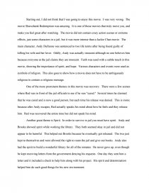 English Example Essay Essay Preview Shawshank Redemption Health Essay Writing also Essay For Science Shawshank Redemption  Free Essays Business Essay Structure