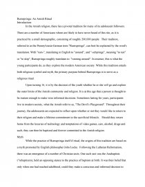 Essay on rumspringa resume sample human resource position