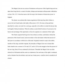High School Narrative Essay Essay Preview Magna Carta English Essay My Best Friend also Essay On Terrorism In English Magna Carta  Essays Topics For English Essays