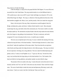 essay on a song