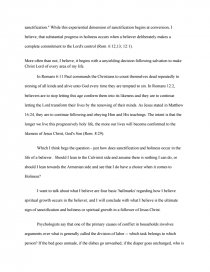 holiness position paper   research paper