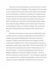groundhog day and buddhism college essays zoom zoom zoom