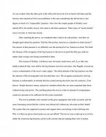erin brockovich movie summary essay