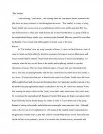 Essay On The Sandlot Three the victims