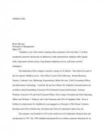 adelphia scandal essay