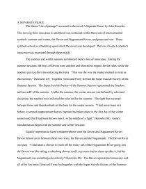 A separate peace essay theme 19 common mistakes in college application essays