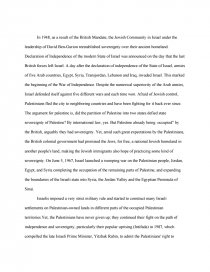 Compare And Contrast Kashmir And Israel/Palestine - Term Papers