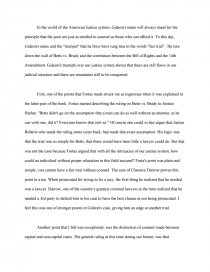 gideons trumpet essay