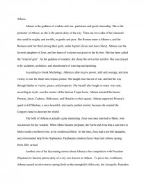 athena greek mythology research paper zoom zoom