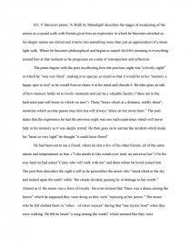 a walk in the moonlight essay