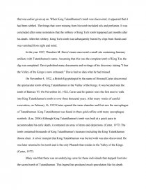 King Tut  Research Paper Zoom Zoom Zoom Zoom