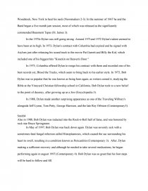 Essay bob dylan song professional publications resume
