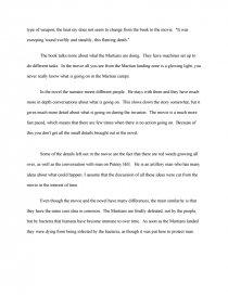 war of the worlds essay