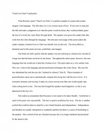 final love note explication college essays zoom zoom