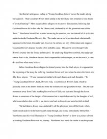 Young goodman brown literary analysis what is the abstract in a science research paper