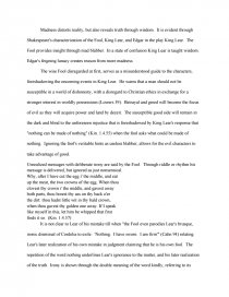 king lear essays on madness