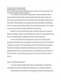 Printing press essays 12th grade persuasive essay topics