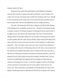 character analysis mr darcy essays zoom