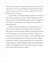 Argumentative Essay Thesis Examples Essay Preview Internal And External Conflict Amy Tans Two Kinds Write My Essay Paper also Critical Analysis Essay Example Paper Internal And External Conflict Amy Tans Two Kinds  Research Paper What Is A Thesis For An Essay