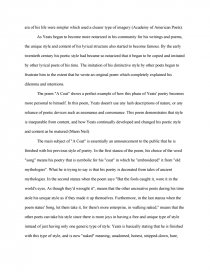 Essay Thesis Statement Essay Preview The Style And Content Of William Butler Yeats Essays On Business Ethics also Sample English Essays The Style And Content Of William Butler Yeats  Research Paper English Essay About Environment