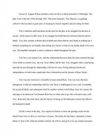 free essay fences august wilson
