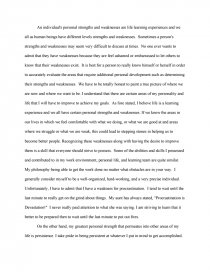 personal strengths and weaknesses college essays zoom zoom zoom