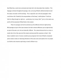 audubon and dillard ap essay