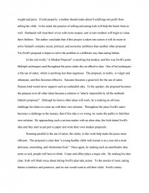 High School Entrance Essay Samples  How To Write A Essay For High School also How To Write A Thesis Sentence For An Essay Effectiveness Of A Modest Proposal  Free Essays Science Argumentative Essay Topics