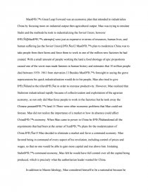 China During Sun Yatsen And Mao Zedong  Free Essays China During Sun Yatsen And Mao Zedong Essay In English Literature also Essay Samples For High School  What Is A Thesis Statement In An Essay