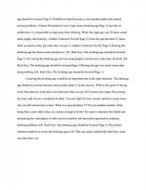 Lowering legal drinking age essays essays on pablo picasso
