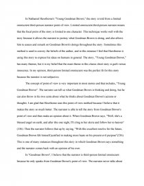 Young Goodman Brown by Nathaniel Hawthorne   Summary  In this     Young Goodman Brown Symbolism and Allegory