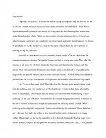 Forgiveness - College Essays