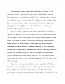 James Joyce Annotated Bibliography