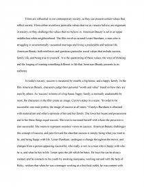 Essay Thesis Statement Example Zoom  What Is A Synthesis Essay also Modest Proposal Essay American Beauty  Essays Essay English Example