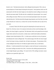 Argumentative Essay Topics High School Essay Preview Iron Jawed Angels Paper Zoom Zoom Compare And Contrast Essay High School Vs College also Topics For English Essays Iron Jawed Angels Paper  Book Report Thesis Statement Argumentative Essay