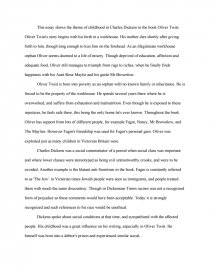 Buy Essays Papers Essay Preview This Essay Shows The Theme Of Childhood In Charles Dickens  In The Book Oliver Twist Oliver Twists Story Begins With His Birth In A   How To Write An Essay Proposal Example also Health Essay This Essay Shows The Theme Of Childhood In Charles Dickens In The  How To Stay Healthy Essay