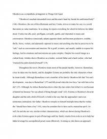 okonkwo as a sympathetic protagonist in things fall apart similar essays things fall apart