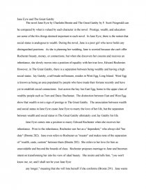 jane eyre compared to the great gatsby research paper zoom