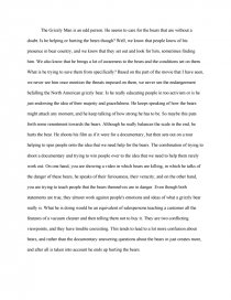 the grizzly man summary research paper similar essays