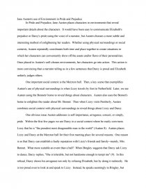 austen s use of environment in pride and prejudice book report zoom