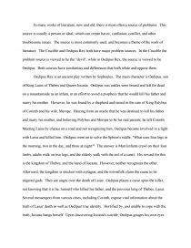oedipus rex essay