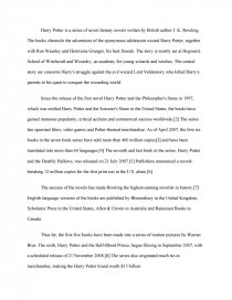 Essay On Healthy Living Similar Essays Harry Potter  What Is The Thesis Statement In The Essay also Essays About Business Harry Potter   College Essays Compare And Contrast Essay Sample Paper